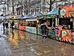 Regular Street Food Market at Piccadilly, Manchester (Tony Worrall) Tags: market manchester streetfood fastfood foodie eat cook make damp rainy color reflections stalls cooked made eaten yum city welovethenorth nw northwest north update place location uk england visit area attraction open stream tour country item greatbritain britain english british gb capture buy stock sell sale outside outdoors caught photo shoot shot picture captured ilobsterit instragram rain wet dailyphoto googlepixel