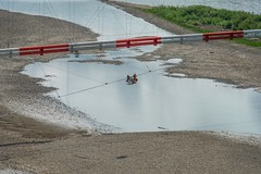There Are Crazy Jobs! (MIKOFOX ⌘) Tags: canada crew maintenance river showyourexif xt2 cable water learnfromexif july landscape wire provia fujifilmxt2 pipeline mikofox summer gravel xf18135mmf3556rlmoiswr