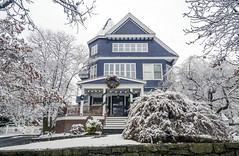 Classic Beauty (JMS2) Tags: house home architecture neighborhood snow town street holidays decorations