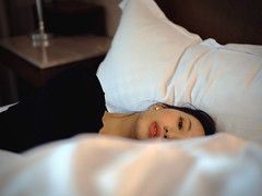 (imnOthere0) Tags: snapshot candid tired wife portrait bed woman