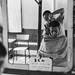 Quiet Reflections (C Bing) Tags: leica leicam6j summilux50v1 fomapan400 film filmphotography 135mmformat bw blackandwhitephotography filmisnotdead buyfilmnotmegapixels streetphotography streetsidebarber alleybarber barber