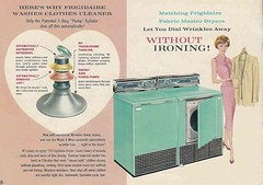 """""""Dial Wrinkles Away"""" (saltycotton) Tags: laundry appliances """"washing machine"""" washer dryer frigidaire housewife vintage magazine advertisement ad 1958 1950s"""
