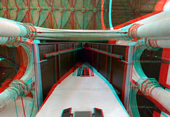 Narrow House by Edwin Wurm 3D (wim hoppenbrouwers) Tags: narrowhouse edwinwurm 3d anaglyph stereo redcyan oudekerk delft