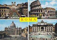 Postkarte / Italien (micky the pixel) Tags: postkarte postcard multiview ephemera italia italien italy rom roma spanischetreppe scalinataditrinitàdeimonti kirche church santissimatrinitàdeimonti kolosseum petersdom brunnen fountain trevibrunnen amphitheatrumflavium