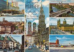 Postkarte / Deutschland (micky the pixel) Tags: postkarte postcard multiview ephemera deutschland germany münchen munich hauptbahnhof sonolingertorplatz hofbräuhaus odeonsplatz theatinerkirche frauenkirche rathaus flughafen riem bayern bavaria
