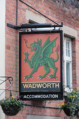 THe Green Dragon pub sign Market Lavington Wiltshire UK (davidseall) Tags: the green pub sign market lavington wiltshire uk pubs signs inn tavern bar public house houses gb british english wadworth hanging dragon