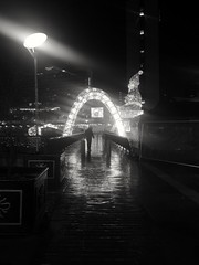 Life through a lens. No edit (dereksalisbury68) Tags: manchesterstreetphotography manchester streetphotography blackwhitephotography blackwhite streetlight lights christmas people urban abstract nightshot rain silhouette shadows