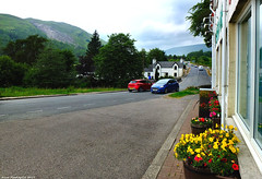 Scotland West Highlands Argyll the road to Glen Coe outside the Green Welly Shop at Tyndrum 29 June 2019 by Anne MacKay (Anne MacKay images of interest & wonder) Tags: scotland west highlands argyll road green welly shop tyndrum cars buildings landscape 29 june 2019 picture by anne mackay