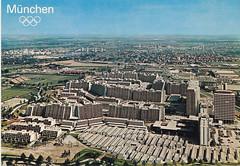 Postkarte / Deutschland (micky the pixel) Tags: germany münchen deutschland postcard ephemera postkarte munich bayern bavaria olympischesdorf