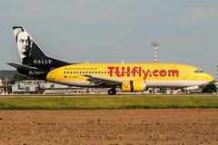 D-AGEJ (PlanePixNase) Tags: eddl dus dusseldorf düsseldorf airport aircraft planespotting lohhausen hapaglloyd express hlx boeing 737 737300 b733 leipzig halle händel bach 733