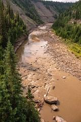 Kiskatinaw River Cut In Deep (MIKOFOX ⌘) Tags: canada river xt2 water learnfromexif july rocks landscape sediment provia fujifilmxt2 mikofox summer showyourexif xf18135mmf3556rlmoiswr