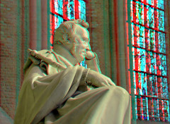 Nieuwe Kerk Delft 3D (wim hoppenbrouwers) Tags: nieuwe kerk delft 3d anaglyph stereo redcyan monumentwillemi monument willemi