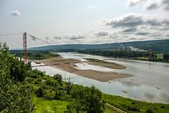 Peace River - Gas Suspension Pipeline (MIKOFOX ⌘) Tags: canada river gaspipeline showyourexif xt2 learnfromexif july landscape provia island suspensionbridge fujifilmxt2 mikofox summer pipeline xf18135mmf3556rlmoiswr