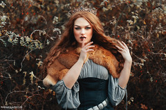 Shhhhht (Andreas-Joachim Lins Photography) Tags: andreasjoachimlins ancient batis28135 berggarten carlzeiss e fantasy fashion female frozen girl hannover jumerianox outdoor people portrait woman young zeiss