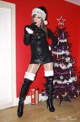Sexy Bad Santa (jessicajane9) Tags: tg crossdressed tgurl femme transvestite xdress trans femboi tranny feminised transgender trap feminization tv crossdress tgirl boots cd travesti crossdressing m2f leather