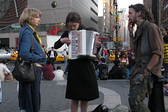 Union Square (6) (chipje) Tags: street girl accordion unionsquare newyork