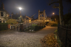 Rob Pitt's Queens Park Bridge, Chester (Frightened Tree) Tags: queens park bridge chester cheshire uk night photography city centre roman little roodee