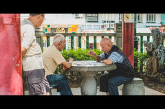 True gamers (Ondakr) Tags: oldman old hongkong game play daylight light fujifilm street streetphotography