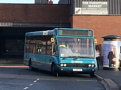 AMN 2499 @ Rugeley bus station (ianjpoole) Tags: arriva midlands optare solo m880 yj58pkd 2499 working route 24 rugeley bus station birch lane brereton