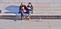 Lunch For Four (jaykay72.) Tags: london uk street candid streetphotography trafalgarsquare stphotographia