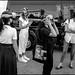 Virtual or Real (GColoPhotographer) Tags: streetphotography bw reality street woman youareleo blackandwhite leonardo virtual milano view