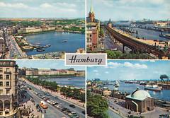 Postkarte / Deutschland (micky the pixel) Tags: germany deutschland postcard ephemera postkarte hamburg multiview hafen hansestadt freieundhansestadthamburg