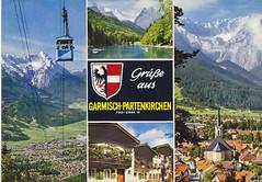 Postkarte / Deutschland (micky the pixel) Tags: germany deutschland postcard ephemera garmischpartenkirchen postkarte bayern oberbayern alpen zugspitze multiview