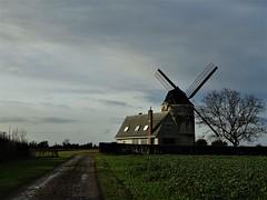 Le moulin d'Achille à Moringhem. (daviddelattre) Tags: moulin paysage herbe photo ciel bleu maison arbre nuage chemin