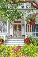 Welcome Home For The Holidays! (Charles Patrick Ewing) Tags: architecture house home homes landscape flowers green white red explore fave favorites nikon florida usa photo photos best beautiful top new all everything colorful nature outdoor outdoors door doors flag holiday christmas art artistic