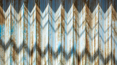 Gradual drop in sales (A Different Perspective) Tags: bali indonesia blue concertina door rust shadow wall