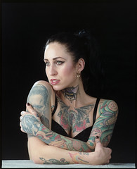 Mamiya RZ Pro II / 180mm 4.5 / Portra 160 (martin wilmsen) Tags: film analog mamiyarz mamiyarzproii kodak kodakportra160 portra dslr scan mamiya mediumformat 6x7 studio elinchrom model tattoo ink inkedgirl portrait portraiture dutchpeople