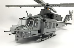 UH-1Y Venom (1) (Lonnie.96) Tags: lego brick model moc own creation usmc 2001 2008 united states america marine corp helicopter bell 2019 december heli twin seat cockpit air assault grey gray dark bley rotor body tail 26 uh1z venom service engine medium size utility upgrade