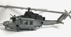 UH-1Y Venom (4) (Lonnie.96) Tags: lego brick model moc own creation usmc 2001 2008 united states america marine corp helicopter bell 2019 december heli twin seat cockpit air assault grey gray dark bley rotor body tail 26 uh1z venom service engine medium size utility upgrade
