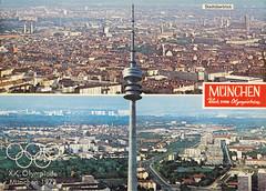 Postkarte / Deutschland (micky the pixel) Tags: germany munich münchen bayern deutschland bavaria postcard ephemera postkarte multiview olympiaturm