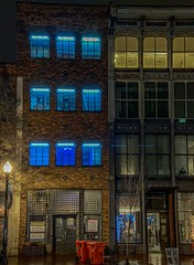 Blue light of Kentucky (bazzaqpr) Tags: nighttime citylife streetphotography street streetlife building buliding downtown city kentucky louisville