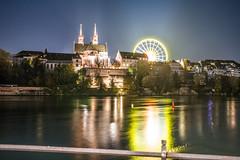 Basel by night (gerdjandijk) Tags: night herbstmesse basel switzerland swiss schweiz switserland river