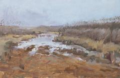 Брід | Ford (Bohdan Tymo) Tags: oilpainting sketch water river ford reeds fog mist cold pleinair