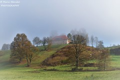 Croatia, Zorkovac - Coming out from the mist (Marin Stanišić Photography) Tags: croatia zorkovac karlovaccounty autumn mist hill manor nikon d5500