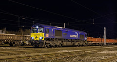 Ballast blues..... 66 005 in Kingmoor Yard. (Marra Man) Tags: carlislenetworkyard kingmooryard carlislekingmooryard maritime maritimeintermodalone dbcargo class66 66005 6t54