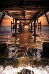 View from under the bridge (noniriches) Tags: bali beautiful jetty beach twilight ocean sea nature sunset bridge