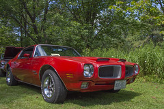 1970 Pontiac Firebird (Racquel Heron) Tags: car cars carshow classiccar classic red green vehicle vehicles pontiac firebird museum stouffville ontario canada