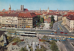 Postkarte / Deutschland (micky the pixel) Tags: postcard postkarte germany munich münchen bayern deutschland bavaria ephemera sendlingertorplatz