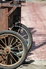 Transportable (A Different Perspective) Tags: bali indonesia blue rust spoke tire trolley wheel