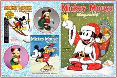 CM2017-08  Mickey Mouse Santa (StarRunn) Tags: christmas holiday mickeymouse disney comicbooks magazinecovers santa figures decorations ornaments 1930s