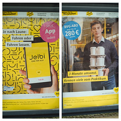 BVG Werbung 12.12.2019 (rieblinga) Tags: berlin bvg haltestelle werbung bus 12122019 plakat app monatskarte abo wall