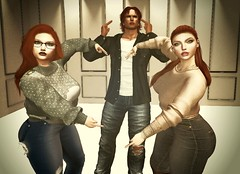 Cant even take a nice family picture (Tigs Rock Skogki) Tags: secondlife sl avatar siblings brother sister neon lights redhead ginger babygirl daddy daddydom bdsm