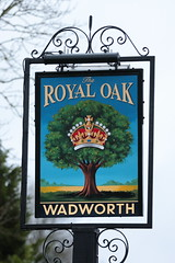The Royal Oak pub sign Easterton Wiltshire UK (davidseall) Tags: the royal oak pub sign easterton wiltshire uk signs inn tavern bar public house houses gb british english hanging wadworth