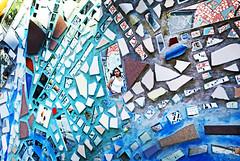 The Masterpiece (kirstiecat) Tags: philly philadelphia america pennsylvania magicgardens isaiahzagar mosaic art glass sculpture woman female streetportrait us mirror reflection modernart contemporaryart