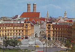Postkarte / Deutschland (micky the pixel) Tags: germany munich münchen bayern deutschland bavaria postcard ephemera postkarte stachus karlsplatz