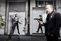 AK Jesus (Daz Smith) Tags: dazsmith fujifilmxt3 xt3 fuji bath city streetphotography people candid portrait citylife thecity urban streets uk colour london ak47 jesus mural art graffiti